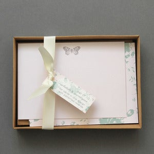 Image of Set Of 10 Butterfly Boxed Notelets