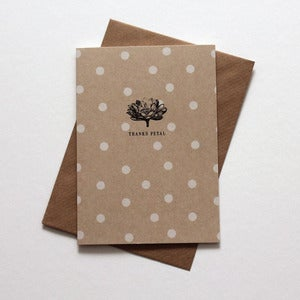 Image of Miniature Vintage -  'Thanks Petal' Notecard