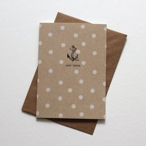 Image of Miniature Vintage -  'Ahoy There' Nautical Notelet