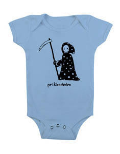 Image of Prikkedøden - babybody light blue