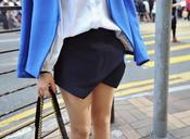 Image of Minute Tailored Wrap Skort -Navy