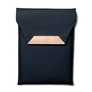 Image of Folded Felt Laptop Sleeve / Black