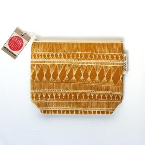 Image of Medium Mustard Yellow Zippered Pouch