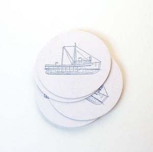 Image of Letterpressed Boat Coasters
