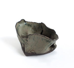 Image of Large Gray-Blue Free-form Folded Planter