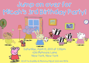 Image of Peppa Pig Invitation #2