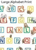 Image of Large Alphabet Print - Bold or pastel colours