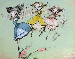 Image of Fairy Swarm Art Print by the Filigree 8x10