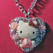 Image of SOLD* WEB EXCLUSIVE* Pink Kisses Kitty Necklace