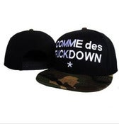 Image of NEW! Comme Des Fck Down Camo Snapback Hat (Black)