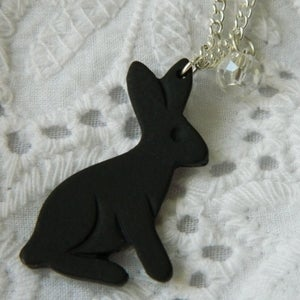 Image of Black Rabbit Necklace