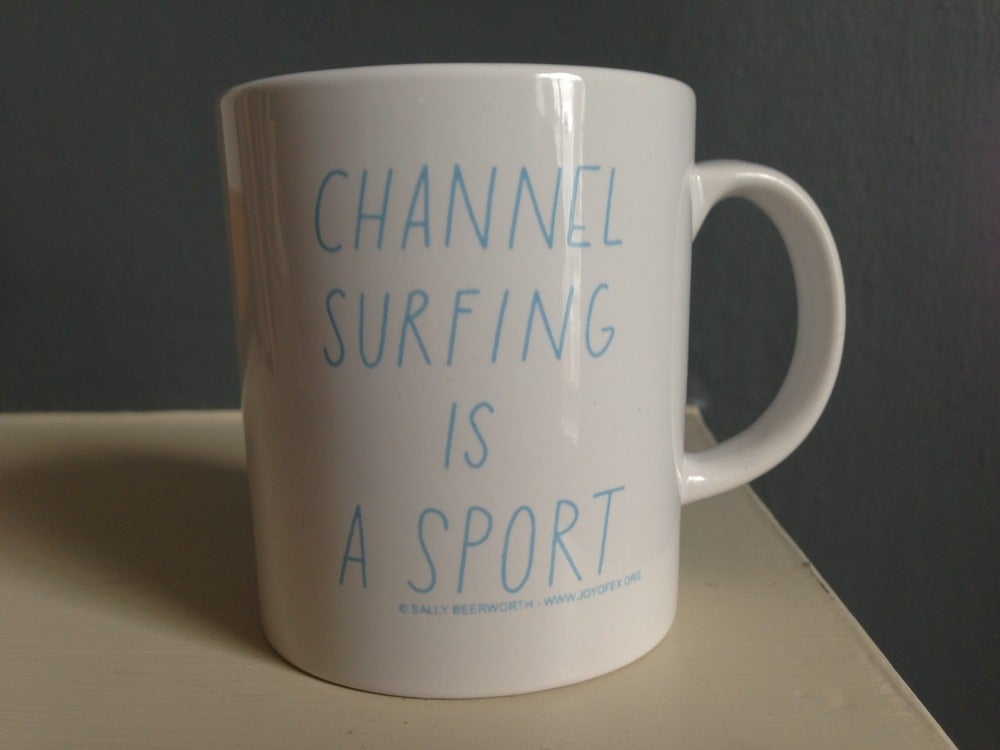 Image of Channel surfing is a sport MUG