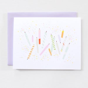 Image of Birthday Candles - Single Card