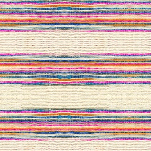 Image of Fabric Yardage- Striped Khadi Print on Cotton Voile