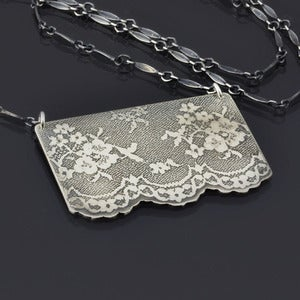 Image of Large Silver Lace Necklace (No. 6)