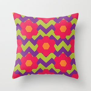 Image of Cushion Cover - Hexie Raspberry Swirl