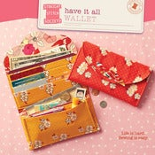 Image of Have It All Wallet pattern by Straight Stitch Society