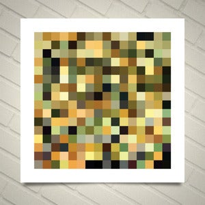 Image of Series 256 — Based on the colors from Leonardo da Vinci's Mona Lisa