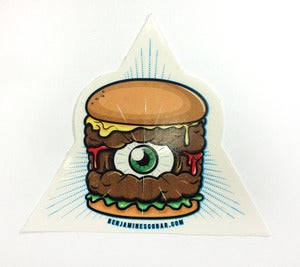 Image of EYE OF BURGER sticker pack