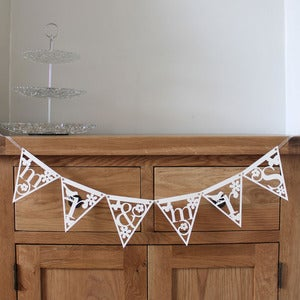 Image of Papercut Alphabet Bunting