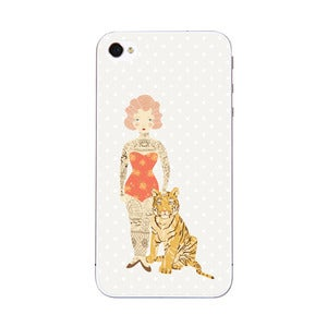 Image of Tattoo'd Lady - iPhone 5 & 4 Sticker