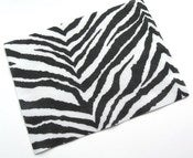 Image of 1 Sheet of Zebra Print Felt - Destash