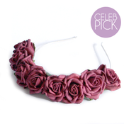 Image of Lotta Rosie Headband - Burgundy