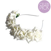 Image of Whole Lotta Rosie Headband - Cream