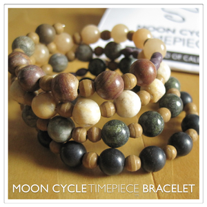 Image of Moon Cycle Timepiece Bracelet | Stone | Earth Tones