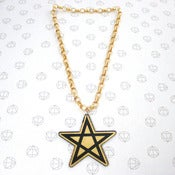 Image of Gold PENTACLE on Big Chain