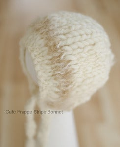 Image of Cafe Frappe Stripe Bonnet