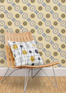 Image of Darjeeling Wallpaper - Mustard