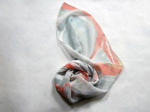 Image of Marbled Silk Chiffon Scarf v