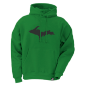 Upper Peninsula Hoodie - Green / Black