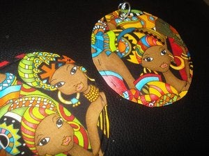 Image of SISTAH GIRL - Classic Fabric Earrings - Limited Run