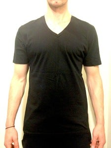 Basic V-Neck Tee Black