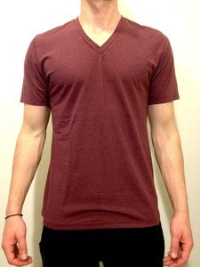 Basic V-Neck Tee Burgundy