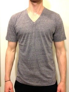 Basic V-Neck Tee Grey