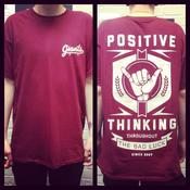 Image of POSITIVE THINKING T-Shirt - Maroon
