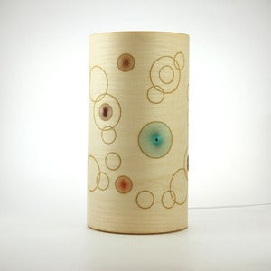 Image of Ash freestanding lamp. Random Circles.
