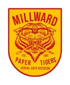 Image of Millward 'Paper Tigers' Patch & Print Set.