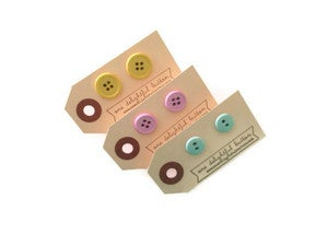 Image of Classic Button Earrings: Pastels
