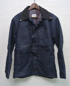 Image of Vintage lined denim chore/barn coat (L)