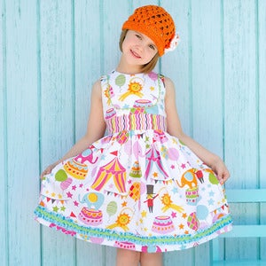 Image of The Perfect Party Dress - Classic Girls Dress pattern - 2 - 10 yrs