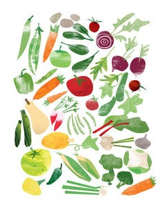 Image of Fruit and Vegetables Prints by Redcruiser (set of 2 prints)