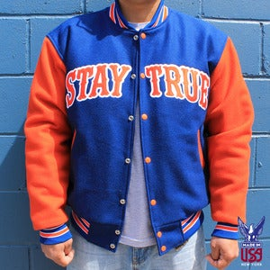 Image of Stay True Varsity Jacket (wool)