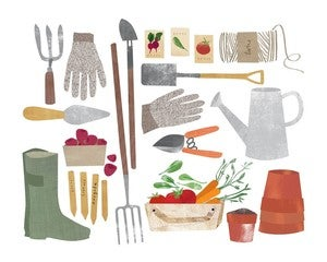 Image of Garden Gear Print by Redcruiser
