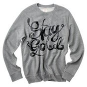 Image of Stay Gold grey crew neck sweater