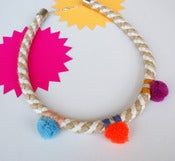 Image of Pom Pom Necklace colour_bop