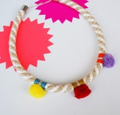 Image of Pom Pom Necklace colour_yrm